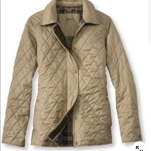 L.L. Bean Women's Quilted Riding Jacket Tan Large